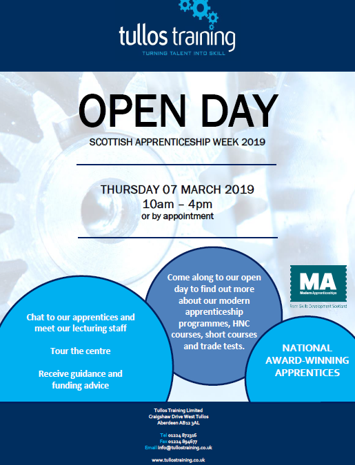 Tullos Training Open Day 2019